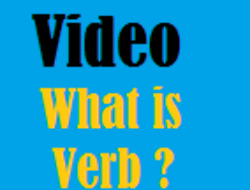 Verb: Video to Learn Grammar