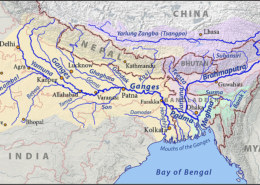 Which famous river marks the eastern most boundary of himalayas?