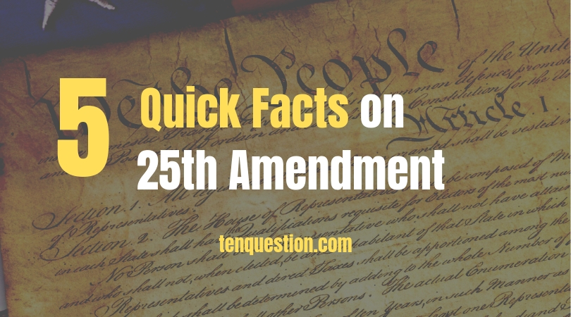 25th amendment to constitution